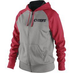 Nike Die Hard Full-Zip NFL Kansas City Chiefs Women s Hoody - Dark Grey  Heather d9d07c151