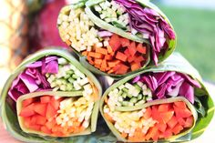 Raw Rainbow Wraps with Mango Dipping Sauce (low-fat raw vegan)