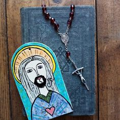 Keramický svatý obrázek Turquoise Necklace, Origami, Jewelry, Jewlery, Bijoux, Schmuck, Origami Paper, Jewerly, Jewels