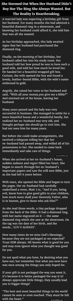 She Storms Out When Her Husband Did Not Buy Her The Ring She Always Wanted But The Reality Is Heartbreaking