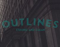 Outlines #Typeface by Silk design