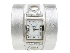 La Mer horloge silver/silver wrap