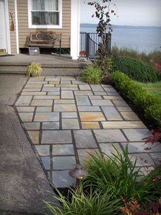 Another Shot Of The Pennsylvania Blue Flagstone Patio. | Father .