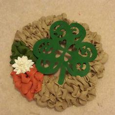 St. Patrick's Day Burlap Door Wreath