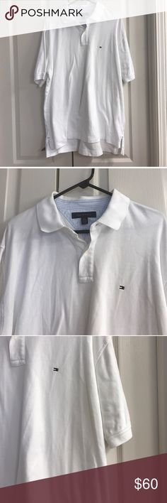 Size XL white Tommy Hilfiger polo shirt Size XL white Tommy Hilfiger polo shirt Tommy Hilfiger Shirts Polos