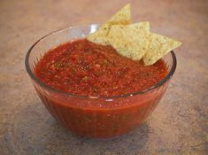 Homemade salsa!---  2 fresh tomatoes//    1 big can diced tomatoes//    3/4 bunch of cilantro//    1 jalapeño//    1 purple onion// 2 cloves garlic minced//   salt and pepper to taste// ----        Just tried this.. AMAZING. And I used my blender!