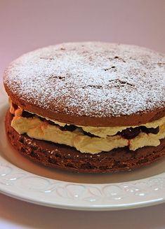 Cherry Chocolate Sponge Cake. What I will be making for my birthday cake this year:)
