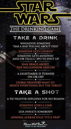 "Star Wars Drinking Game! ""Sorry About the HOT Mess"""