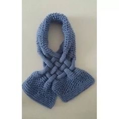 Cachecol - Lã - Feminino - Tricô - Crochê - Feito A Mão C:3c - R$ 25,00