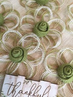 Exceptional diy flowers info are available on our web pages. Check it out and you wont be sorry you did. Burlap Crafts, Ribbon Crafts, Flower Crafts, Fabric Crafts, Twine Flowers, Fake Flowers, Diy Flowers, Burlap Flowers, Rustic Flowers