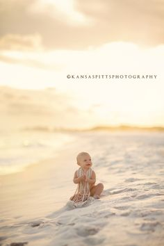 baby abbie | the beach session | kansas studios | kansas pitts photography
