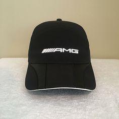 cbd0242159f AMG Logo Original Mercedes Benz Racing Carbon Look Black Mens Strapback Cap  Hat  fashion