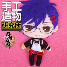 Touken Ranbu Akashi Kuniyuki Sword Dance DIY  Material Toy Doll Phone Chain $15.95