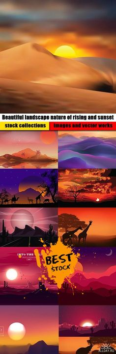 Beautiful landscape nature of rising and sunset