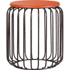 Featuring an intriguing cage design, this metal table brings a touch of the industrial look to your scheme – perfect holding an impressive vase or used as ...