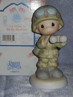 Precious Moments Figurine Army for $30