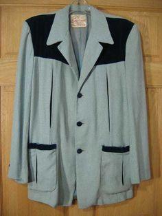 Vintage 50s Rayon Ricky Rockabilly Hall Jacket VLV at Robin Clayton Vintage