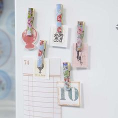 DIY::  Floral Clothes pin magnets-- much more useful for art :)