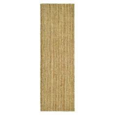 Hand-woven sisal rug.   Product: RugConstruction Material: SisalColor: NaturalFeatures: