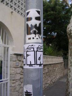 https://flic.kr/p/95jfE | stencil et sticker | photo prise par Onevis, see ya mister !!! www.fotolog.com/onevis
