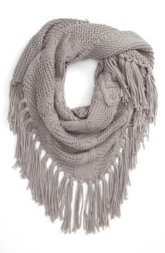 cable knit triangle scarf