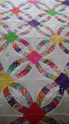 Blooming Quilts! Longarm Machine Quilting: Metro Rings or Double Wedding Ring Quilt
