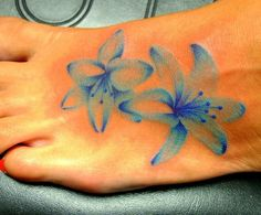blue lily tattoo