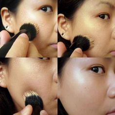 Bonus: Applying foundation with a stippling brush (instead of your fingers) will help the makeup last longer.