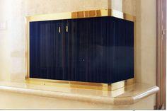 Curtain Mesh Fireplace Screen