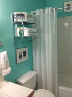 Small generic bathroom decorated