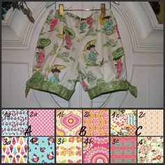 Absolutly FABULOUS!!!!!!!!  Bubble Shorts with side ties  custom create your own by LuLuetGiGi, $35.00