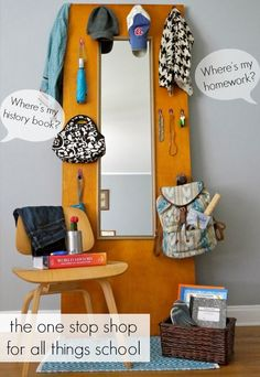 How to be organized for school with a DOOR!  Perfect for a kids room or teen's room.