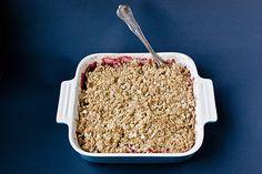 gluten-free strawberry rhubarb crisp recipe