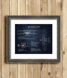 1903 Wright Flyer Blueprints art print by ScarletBlvd on Etsy, $25.00