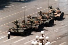 Tianamen Square in 1989 I bet they killed that boy for that.