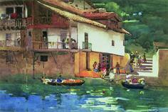 Arthur Melville, Orange Market, Puerta de Los Pasajes, 1892, watercolour on paper © The Fleming-Wyfold Art Foundation