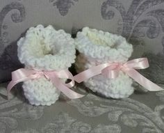 Adorable baby booties by Hayley