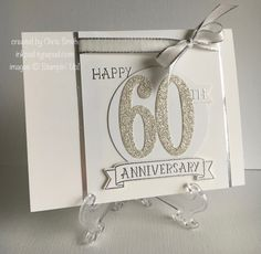 DTGD17margscardcrazyB 60th Anniversary by inkpad - Cards and Paper Crafts at Splitcoaststampers