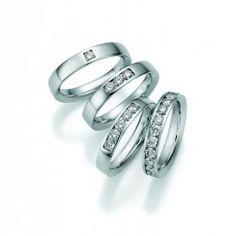 Prachtige trouw/verlovings ringen - memoire - 3,2 mm