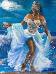 African Mythology, African Goddess, Oshun Goddess, Goddess Art, Luna Goddess, Black Love Art, Black Girl Art, Yemaya Orisha, Yoruba Orishas