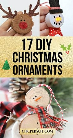 17 Fun & Simple DIY Christmas Ornaments For Kids To Make   Looking to make easy homemade Christmas ornaments that actually look GOOD? Well, you're in the right place! These amazing Christmas ornaments ideas are perfect for a beautiful tree that the whole family will love. #christmasornaments #diychristmasornaments #crafts #diy #ornaments #christmascrafts #christmascraftsforkids #christmasornamentsforkids #chicpursuit Homemade Christmas, Diy Christmas Gifts, Simple Christmas, All Things Christmas, Christmas Holidays, Christmas Ideas, Christmas Inspiration, Christmas Recipes, Holiday Crafts