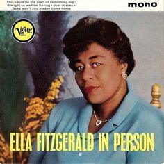 ELLA FITZGERALD In Person Vinyl Record 7 Inch Verve VEP 5001 1961