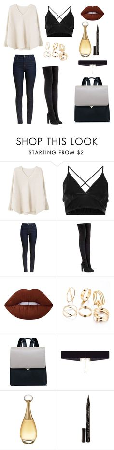 """""""Untitled #5"""" by joana-mendes-2 on Polyvore featuring MANGO, Barbour, adidas Originals, Lime Crime, 8 Other Reasons, Christian Dior and Smith & Cult"""