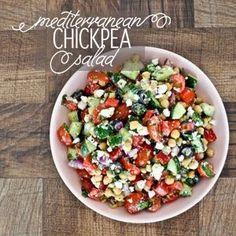 Mediterranean Chickpea Salad Gluten Free | Cooking is Crazy