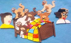 5 Little Monkeys Jumping On The Bed Flannel Board Felt Board Story Set
