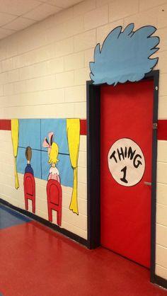 Seuss Hallway and Door Decor Dr. Seuss Hallway and Door Decor Dr. Seuss, Dr Seuss Week, Dr Seuss Birthday, Mom Birthday, Birthday Quotes, Birthday Cakes, Birthday Ideas, Classroom Door, Classroom Themes