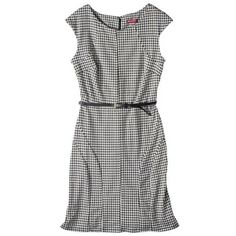 Merona® Women's Ponte Houndstooth Dress - Black/White