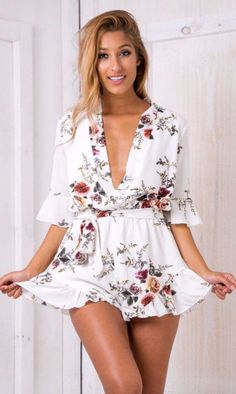100% True Everkaki Sexy Red Jumpsuits For Women Floral Pattern Suits Bohemian Lace Up Backless Long Rompers Womens Jumpsuit 2019 Jumpsuits