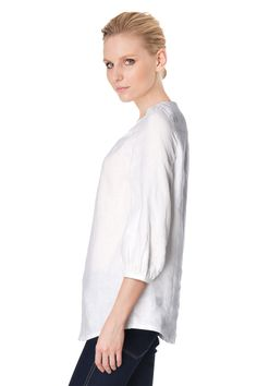 Vente Somewhere / 11982 / Tops / Chemises et Blouses / Blouse en Lin Blanc