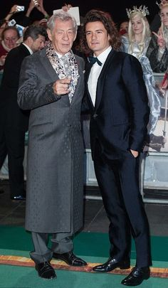 """Sir Ian McKellen and Orlando Bloom – """"The Hobbit: The Battle of the Five Armies"""" Premiere in London"""